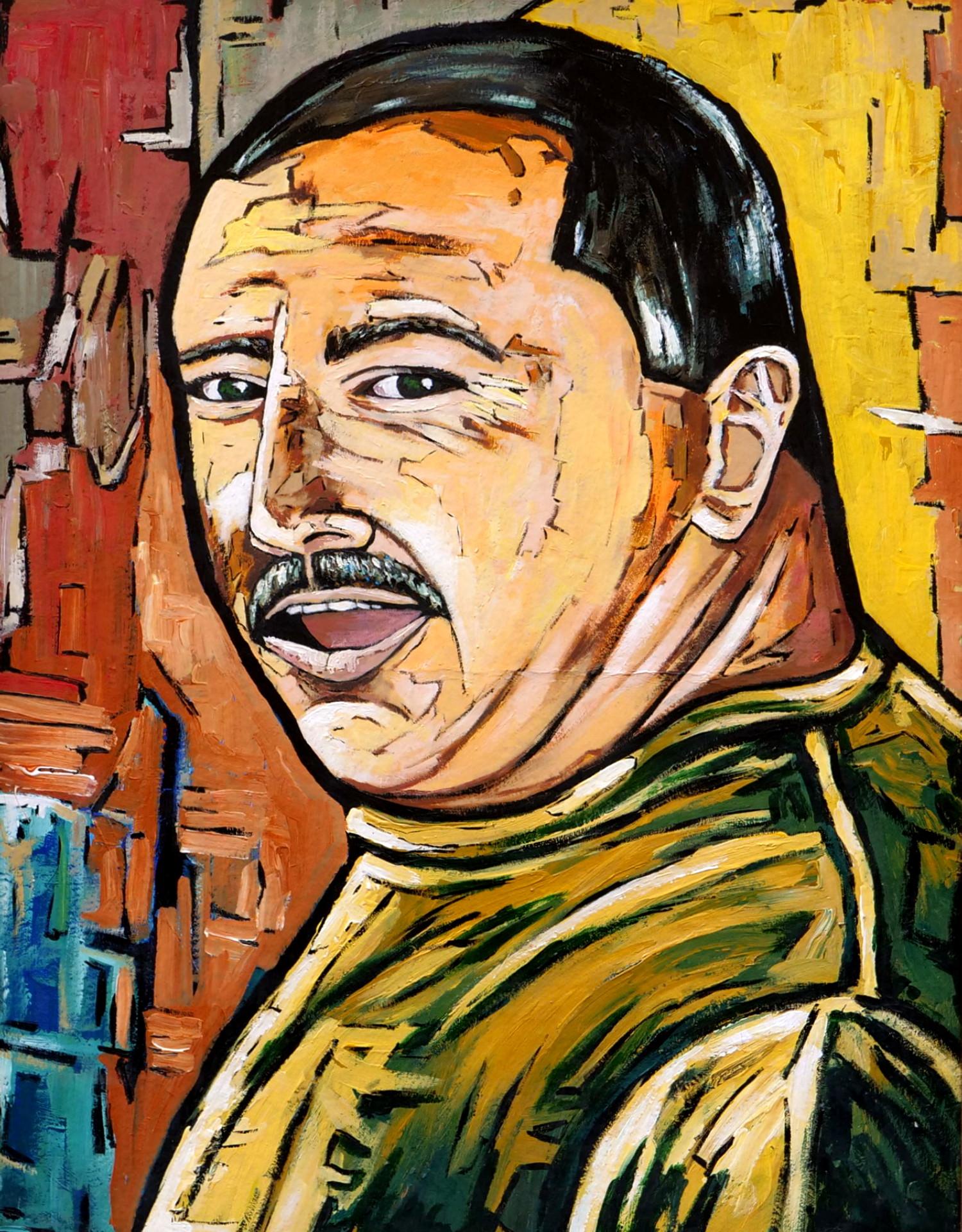 max rovira artiste peintre collioure autoportrait