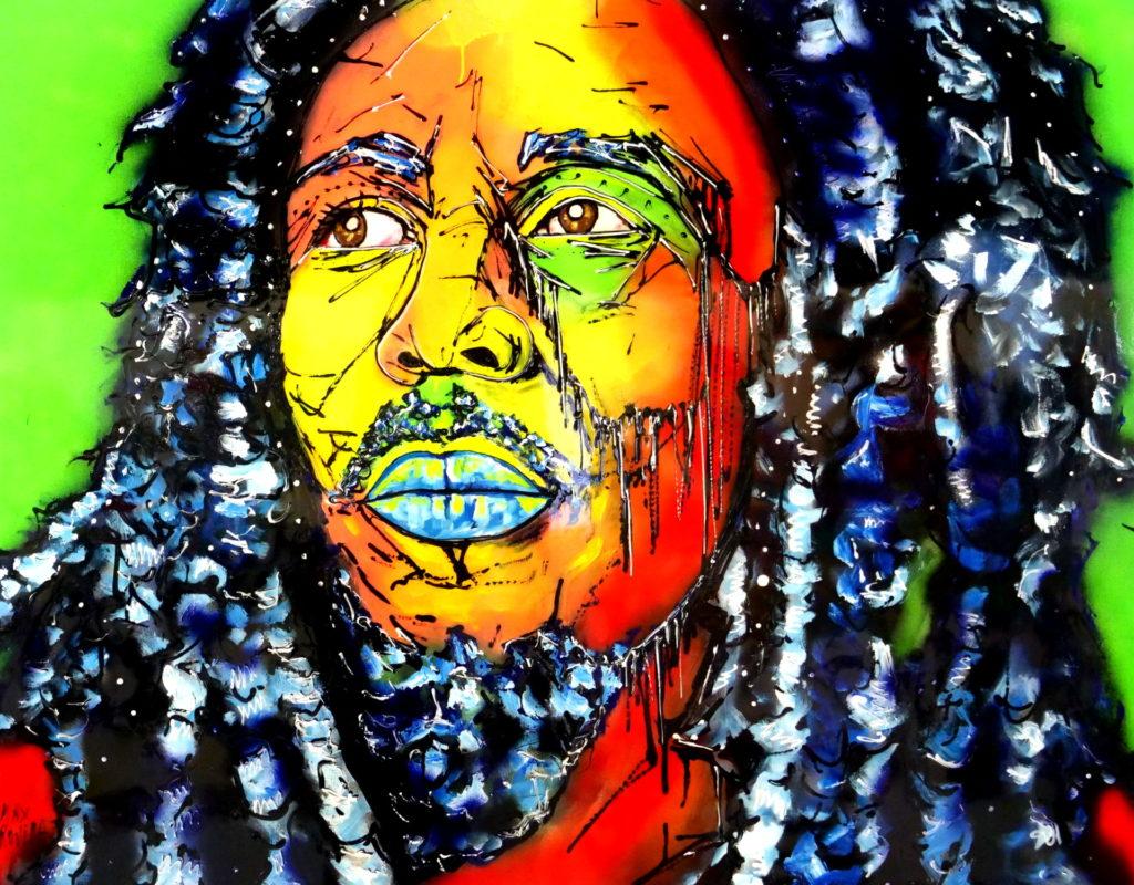 portraits bob marley max rovira artiste peintre collioure