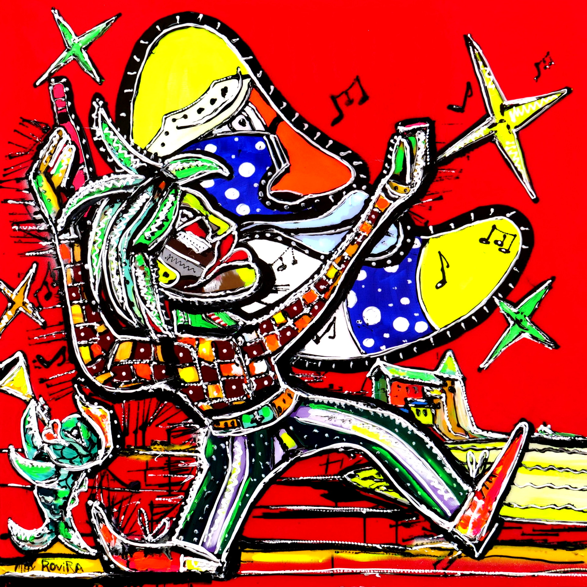max rovira artiste peintre collioure le clown de la lune