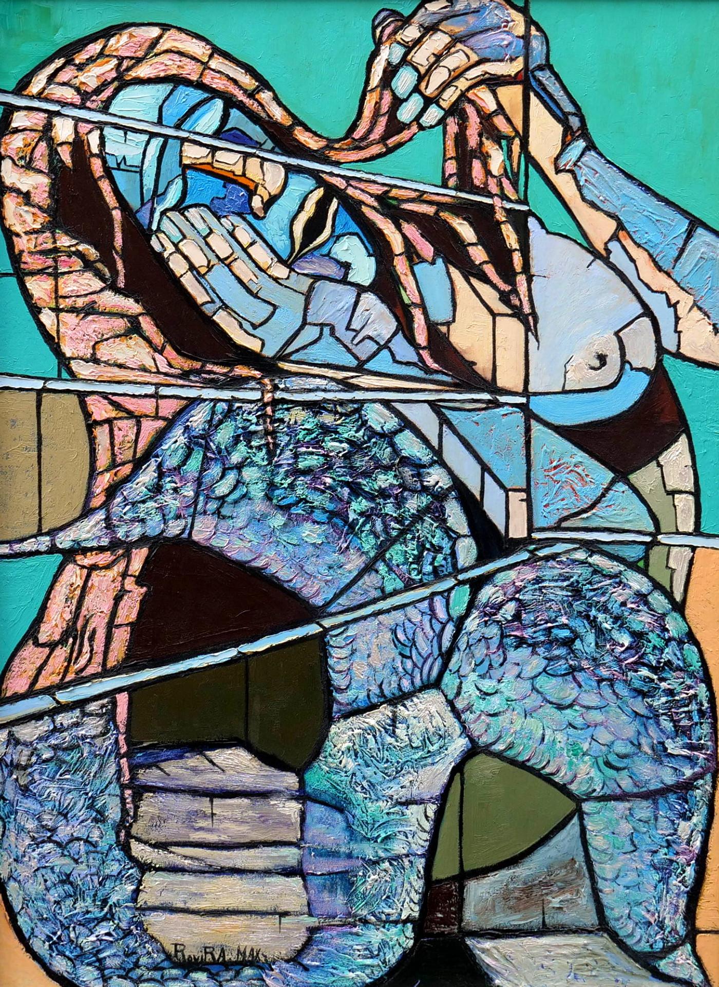max rovira artiste peintre collioure le réveil de la sirène