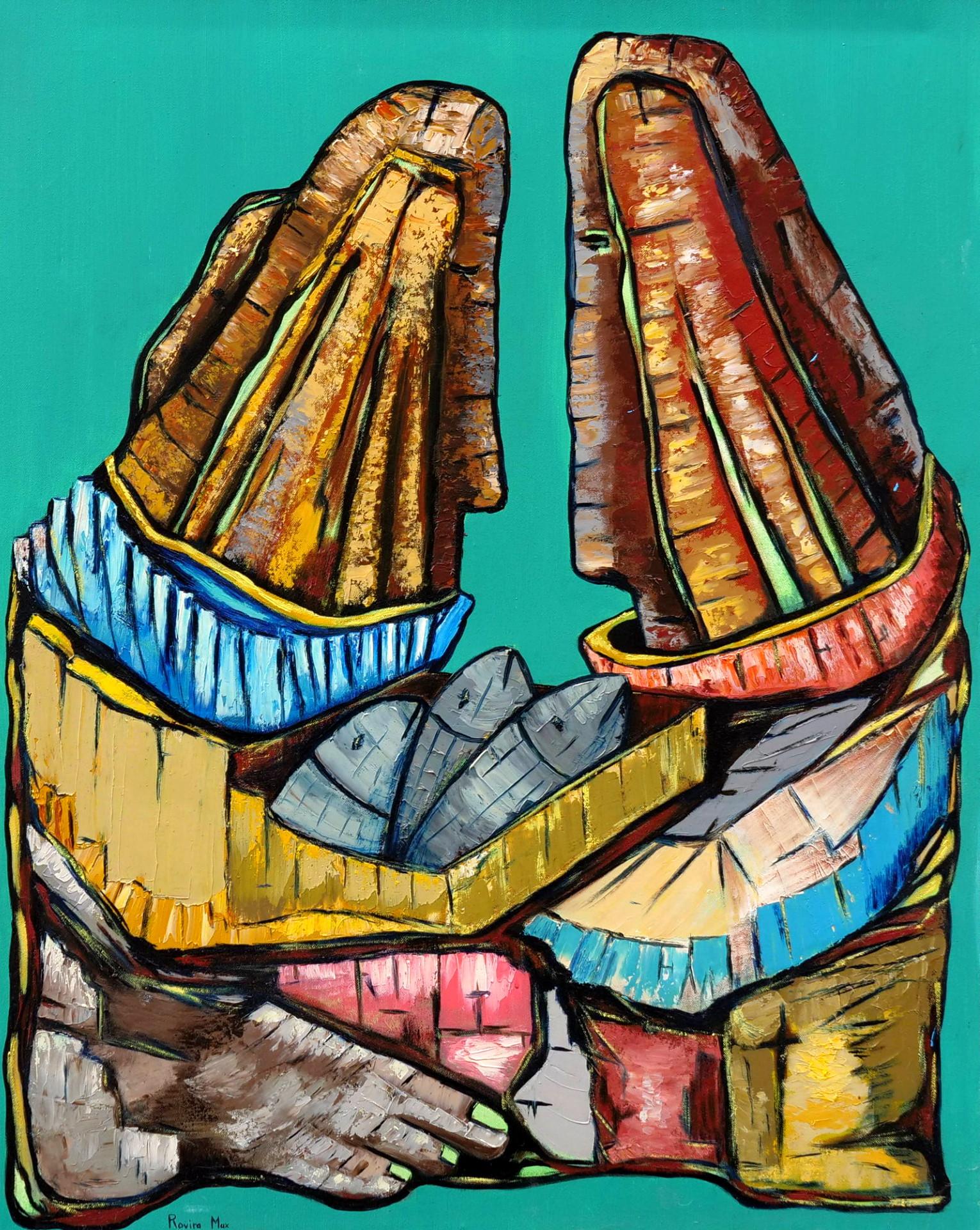 max rovira artiste peintre collioure les marchands de poissons