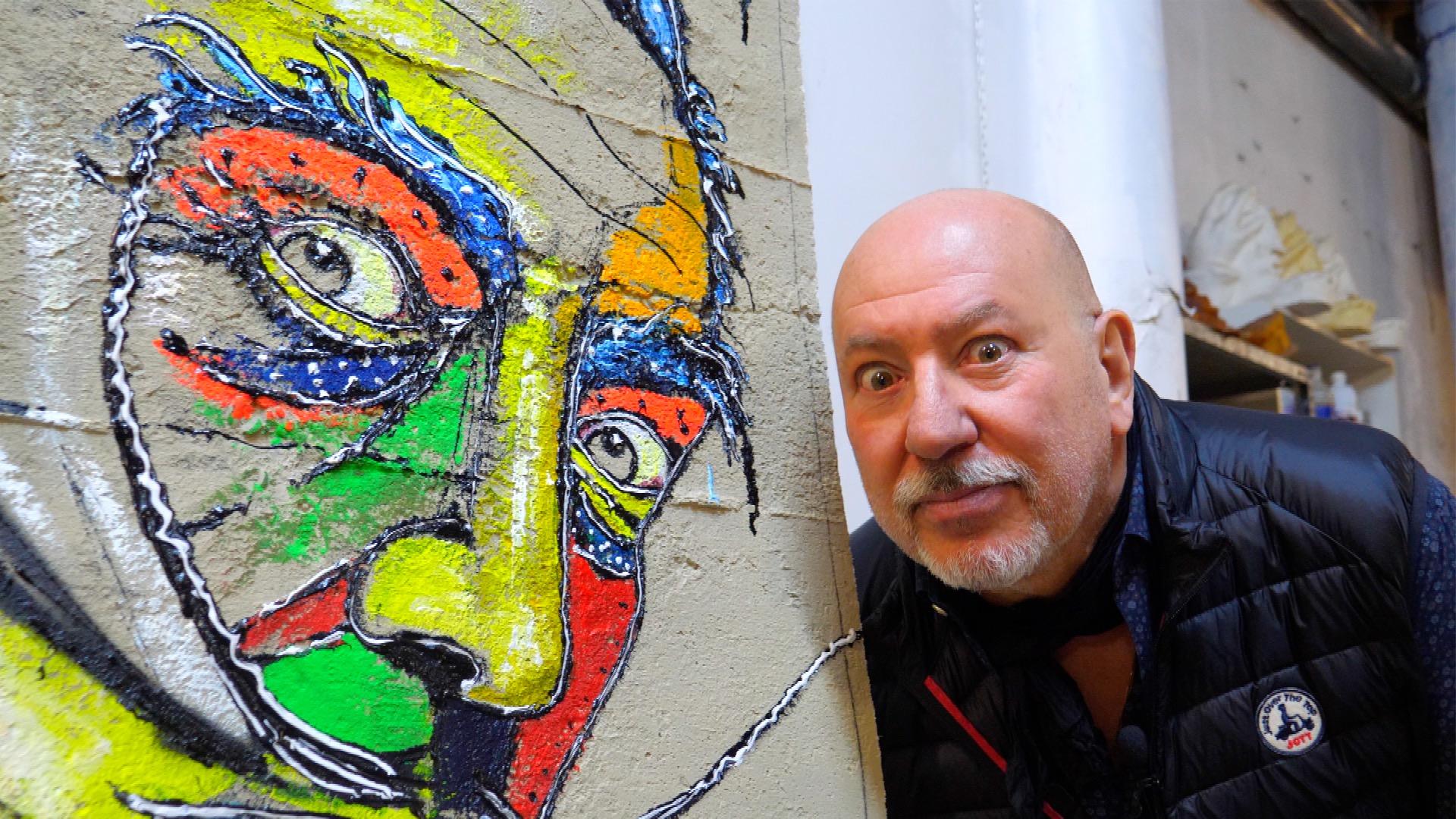 max rovira artiste peintre collioure dali sur béton