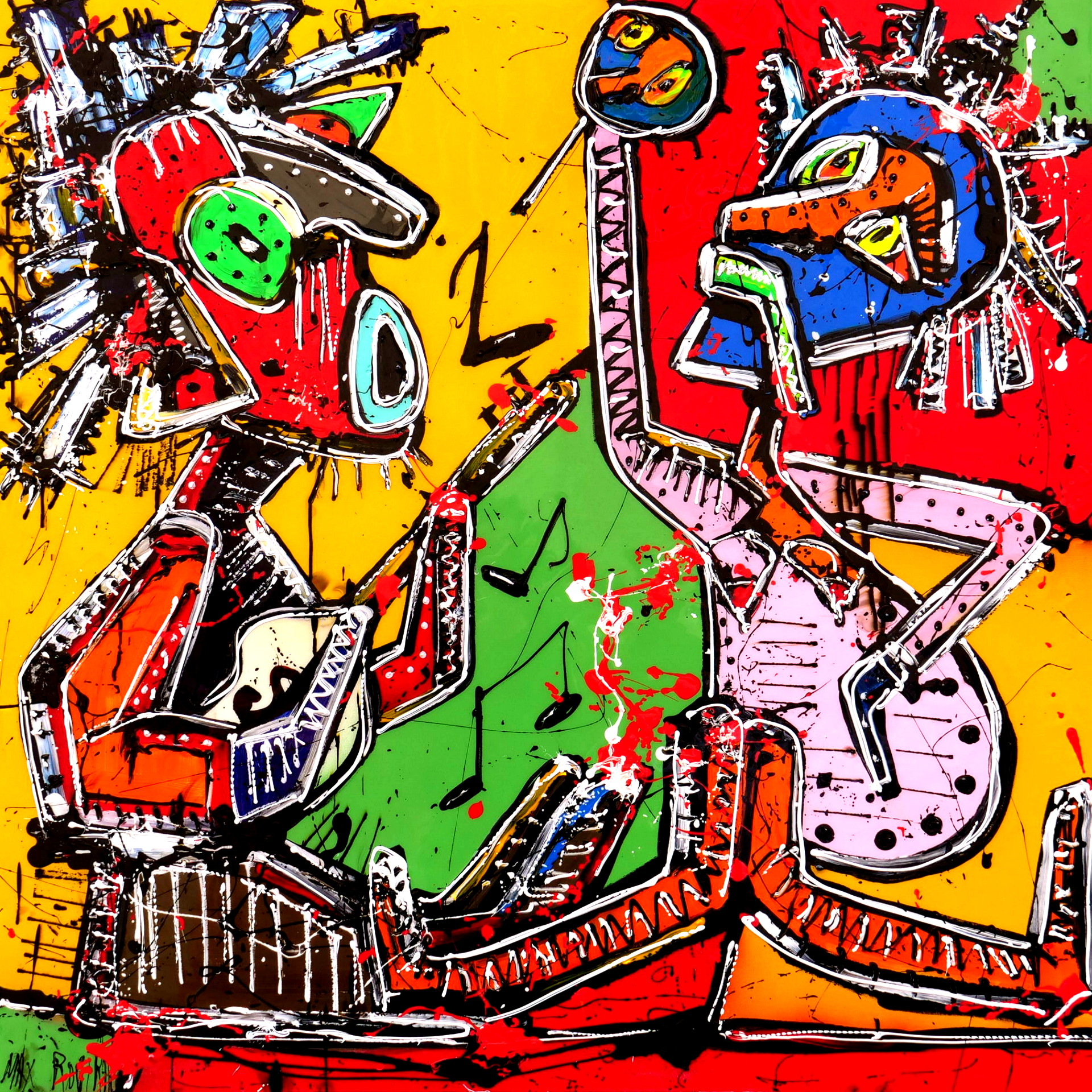 max rovira artiste peintre collioure sérénade à la guitare