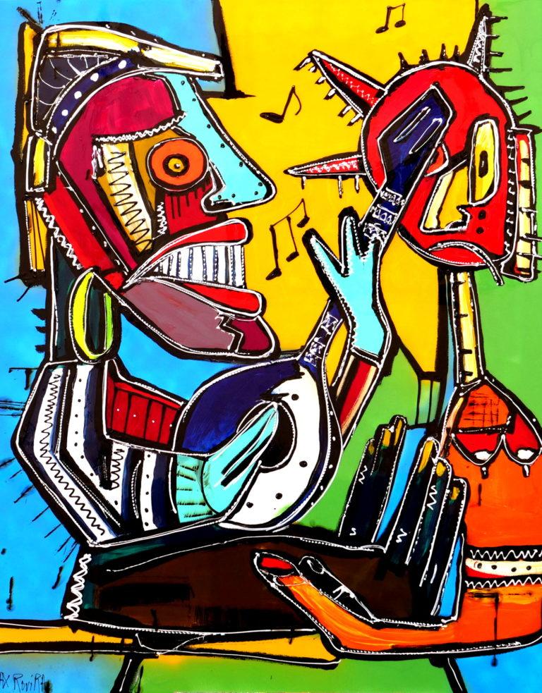 max rovira artiste peintre collioure sérénade à la mandoline