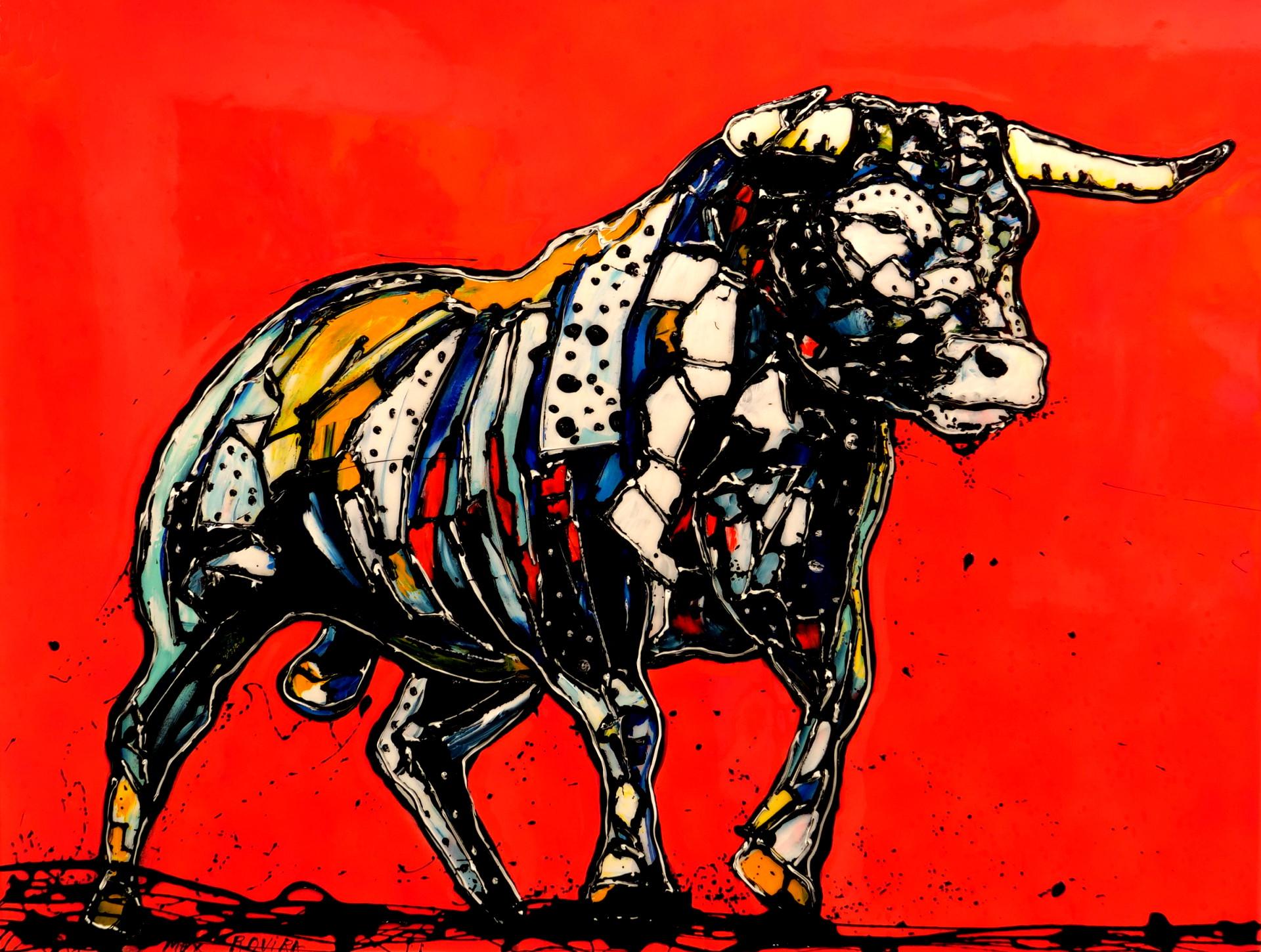 max rovira artiste peintre collioure taureau rouge